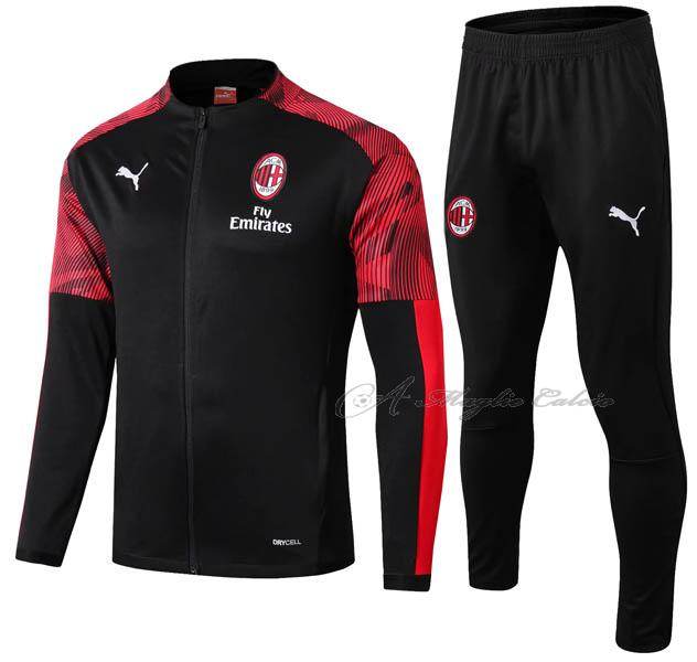 ac milan giacca ii nero rosso 2019-2020