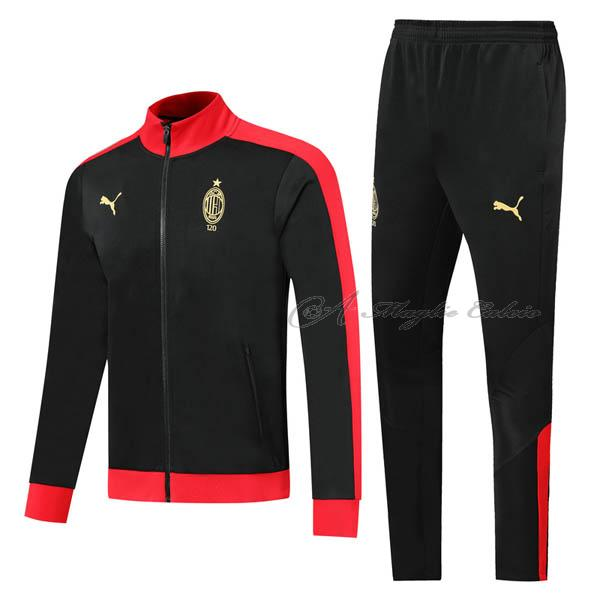 ac milan giacca iii nero rosso 2019-2020
