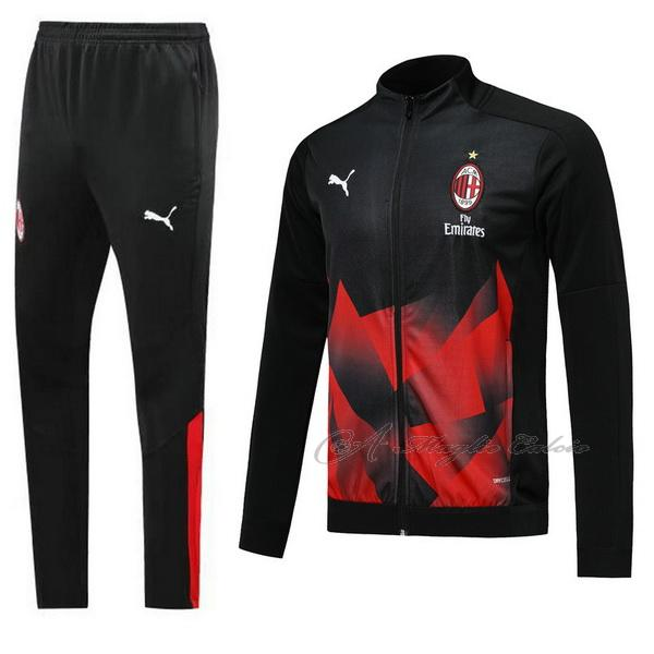 ac milan giacca nero rosso 2019-2020