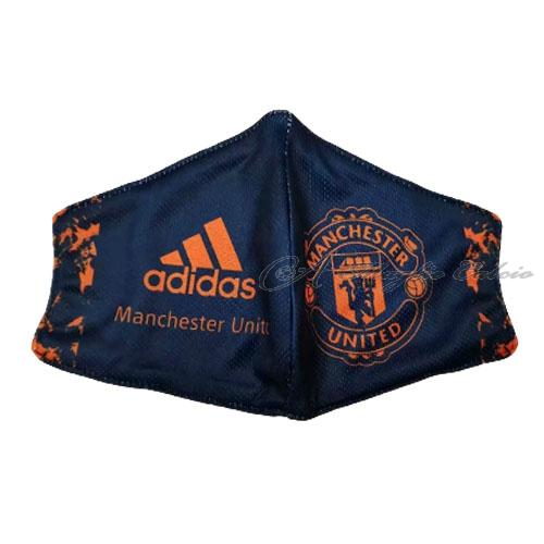 manchester united face masks blu 2020-21