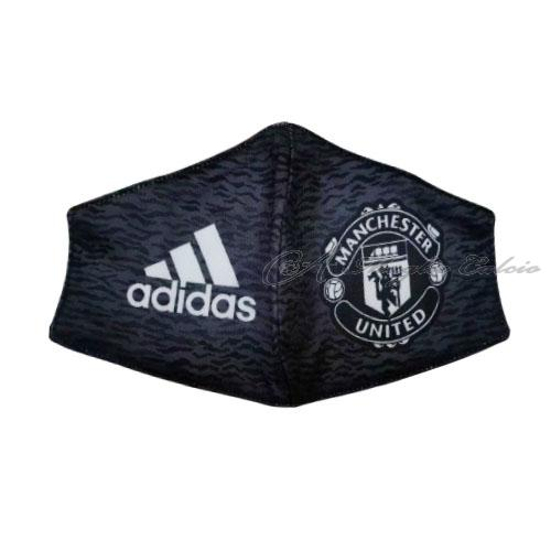 manchester united face masks nero 2020-21