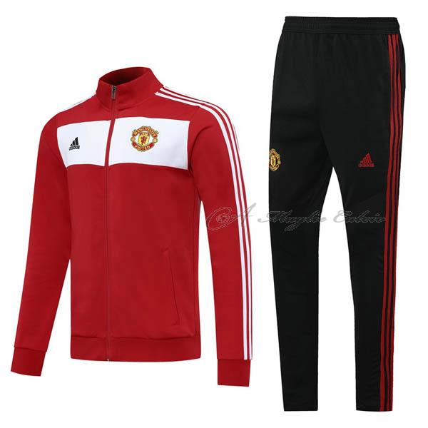 manchester united giacca rosso-bianco 2020