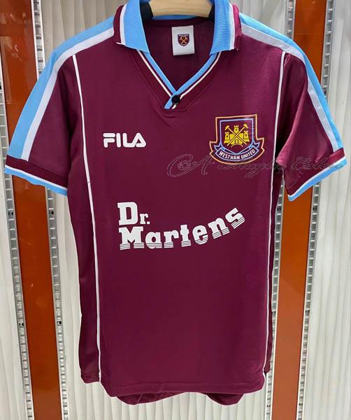 west ham united maglia retro gara home 1999-2000